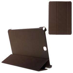 Trifold polohovatelné pouzdro na Samsung Galaxy Tab A 9.7 - hnědé - 1