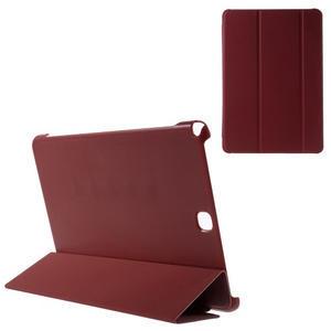 Trifold polohovatelné pouzdro na Samsung Galaxy Tab A 9.7 - červené - 1