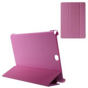 Trifold polohovatelné pouzdro na Samsung Galaxy Tab A 9.7 - rose - 1