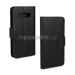 PU kožené pouzdro na Samsung Galaxy A3 - černé - 1