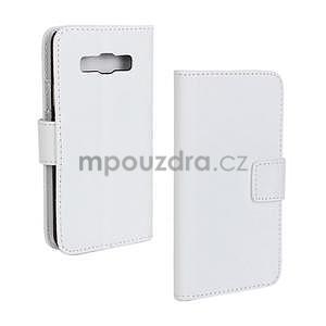 PU kožené pouzdro na Samsung Galaxy A3 - bílé - 1