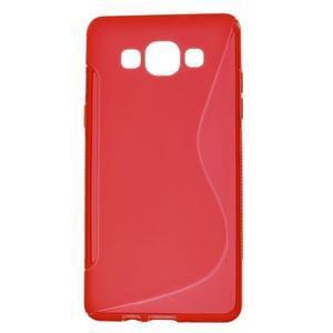 Gelové s-line pouzdro na Samsung Galaxy A3 - červená - 1