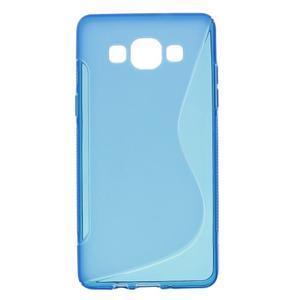 Gelové s-line pouzdro na Samsung Galaxy A5 - modré - 1