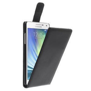 PU kožené flipové pouzdro na Samsung Galaxy A5 - černé - 1