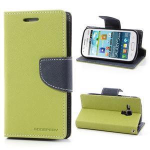 Diary pouzdro na mobil Samsung Galaxy S Duos/Trend Plus - zelené - 1