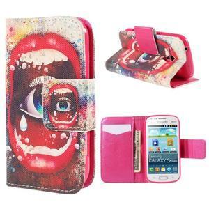 Peněženkové pouzdro pro Samsung Galaxy S Duos / Trend Plus - oko - 1