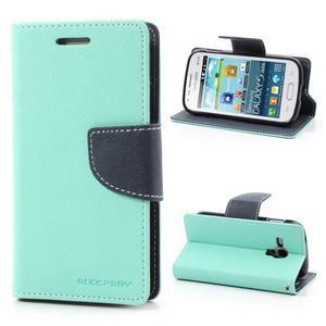 Diary pouzdro na mobil Samsung Galaxy S Duos/Trend Plus - azurové - 1