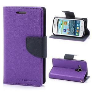 Diary pouzdro na mobil Samsung Galaxy S Duos/Trend Plus - fialové - 1