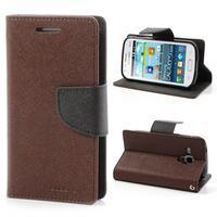 Diary pouzdro na mobil Samsung Galaxy S Duos/Trend Plus - hnědé/černé - 1/7