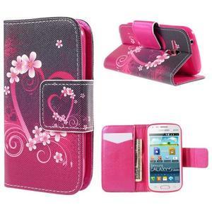 Peněženkové pouzdro pro Samsung Galaxy S Duos / Trend Plus - srdce - 1