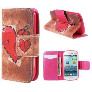 Peněženkové pouzdro pro Samsung Galaxy S Duos / Trend Plus - zlomené srdce - 1