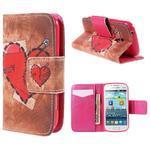 Peněženkové pouzdro pro Samsung Galaxy S Duos / Trend Plus - zlomené srdce - 1/7