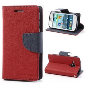 Diary pouzdro na mobil Samsung Galaxy S Duos/Trend Plus - červené - 1