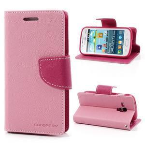 Diary pouzdro na mobil Samsung Galaxy S Duos/Trend Plus - růžové - 1