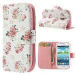 Peněženkové pouzdro na Samsung Galaxy S3 mini - květiny - 1/7