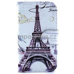 Peněženkové pouzdro na Samsung Galaxy S3 mini - Eiffelova věž - 1