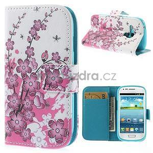 Pouzdro na mobil Samsung Galaxy S3 mini - kvetoucí větvička - 1