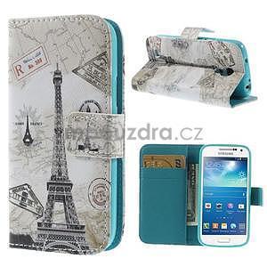 Peněženkové pouzdro pro Samsung Galaxy S4 mini - Eiffelova věž - 1