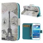 Peněženkové pouzdro pro Samsung Galaxy S4 mini - Eiffelova věž - 1/7