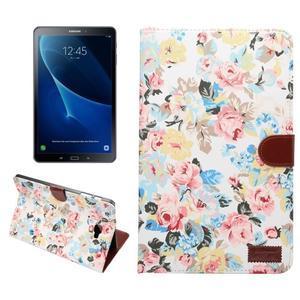 Květinové pouzdro na tablet Samsung Galaxy Tab A 10.1 (2016) - bílé - 1