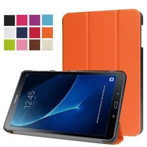 Trifold polohovatelné pouzdro na Samsung Galaxy Tab A 10.1 (2016) - oranžové - 1