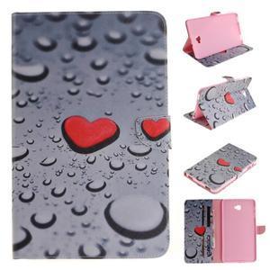 Closy PU kožené pouzdro na Samsung Galaxy Tab A 10.1 (2016) - srdce - 1