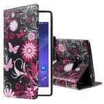 Peněženkové pouzdro na mobil Sony Xperia M2 - motýlci - 1/5