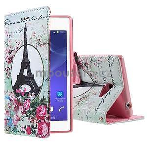 Peněženkové pouzdro na mobil Sony Xperia M2 - Eiffelova věž - 1