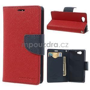 Fancy peněženkové pouzdro na Sony Xperia Z1 Compact - červené - 1