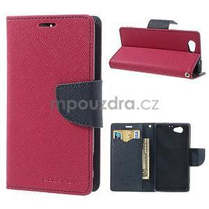 Fancy peněženkové pouzdro na Sony Xperia Z1 Compact - rose - 1