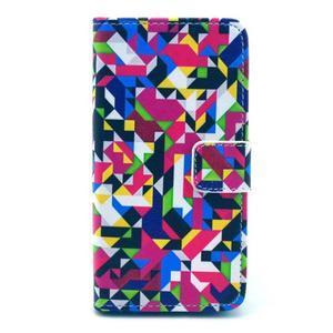 Pouzdro na mobil Sony Xperia Z1 Compact - geometircké vzory - 1