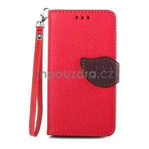 Leaf peněženkové pouzdro na Sony Xperia Z3 Compact - červené - 1