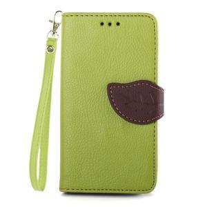 Leaf peněženkové pouzdro na Sony Xperia Z3 Compact - zelené - 1