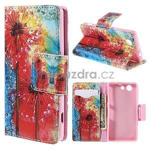 Pouzdro na mobil Sony Xperia Z3 Compact - malované pampelišky - 1