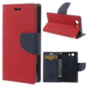 Diary peněženkové pouzdro na mobil Sony Xperia Z3 Compact - červené - 1