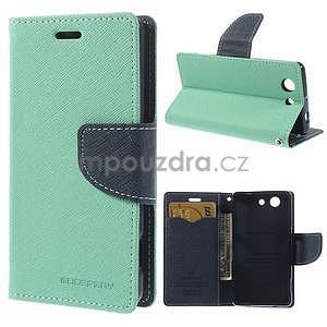 Diary peněženkové pouzdro na mobil Sony Xperia Z3 Compact - azurové - 1