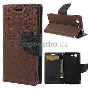 Diary peněženkové pouzdro na mobil Sony Xperia Z3 Compact - hnědé - 1