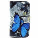 Peněženkové pouzdro pro Samsung Galaxy Trend Plus / Galaxy S duos - modrý motýl - 1/4