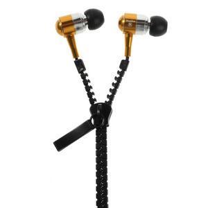 Zippy pecková sluchátka pro poslech hudby - zlatá - 1