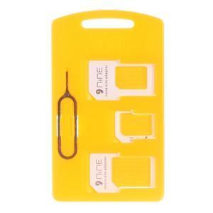 4v1 adaptér/redukce na SIM karty včetně jehly - 1