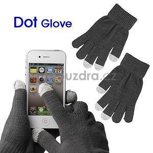 Touch dotykové rukavice na mobil - šedé - 1