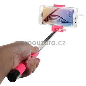Selfie tyč s automatickým spínačem na rukojeti - rose - 1