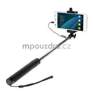 GX automatická selfie tyč se spínačem - černá - 1