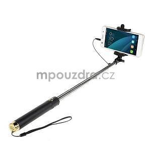GX automatická selfie tyč se spínačem - zlatá - 1