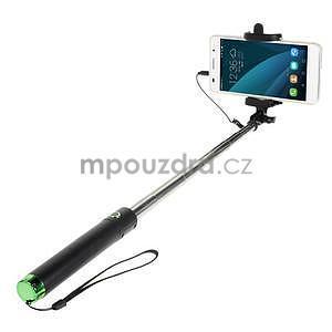 GX automatická selfie tyč se spínačem - zelená - 1