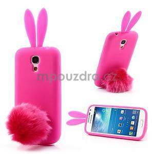Silikonový obal na Samsung Galaxy S4 mini - rose králík - 1