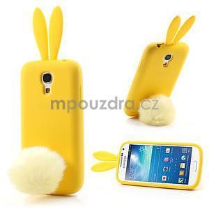Silikonový obal na Samsung Galaxy S4 mini - žlutý králík - 1