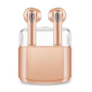 BX8 bluetooth špuntová sluchátka včetně nabíjecího boxu - zlatá - 1