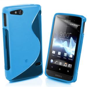 Gelové S-line pouzdro na Sony Xperia Go- modré - 1