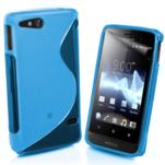Gelové S-line pouzdro na Sony Xperia Go- modré - 1/3
